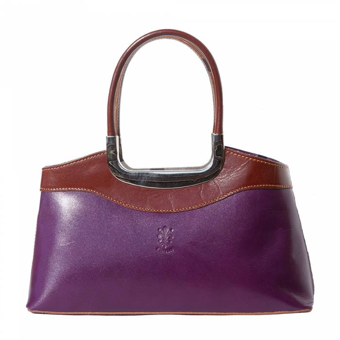 The Anna Shoulder Bag (Purple / Brown)
