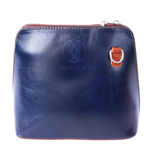 The AMMA JO Lauren Bag (Made in Italy) - Navy Color