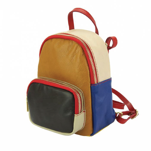 TriColor Mini Backpack (Italian Leather)