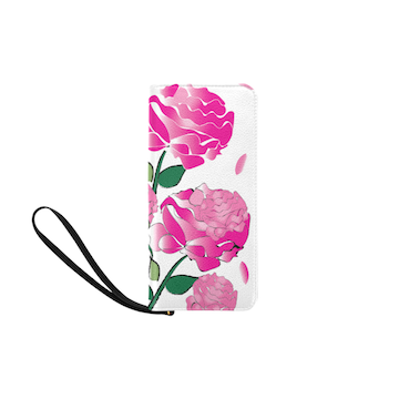 White Peony Wallet Clutch