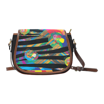 Wild Flower Large Saddle Bag
