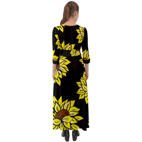 ARRIVES 3/15 - AMMA JO Sunflower Chiffon Maxi Dress