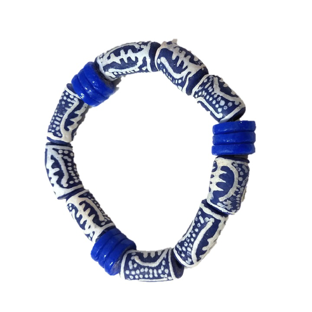 White and Blue Shield Bracelet