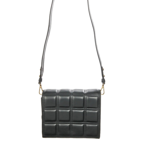 Black Quilted Square Box Bag