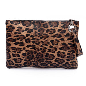 Open image in slideshow, Animal Print Fall 2020 Madison Clutch Pouch