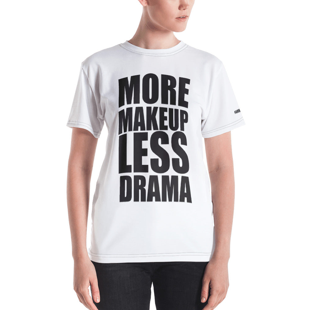 More Makeup. Less Drama @ammajobeauty T-shirt + Free Lip Gloss