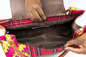 Tartan Girl Chestnut Leather Signature Bag
