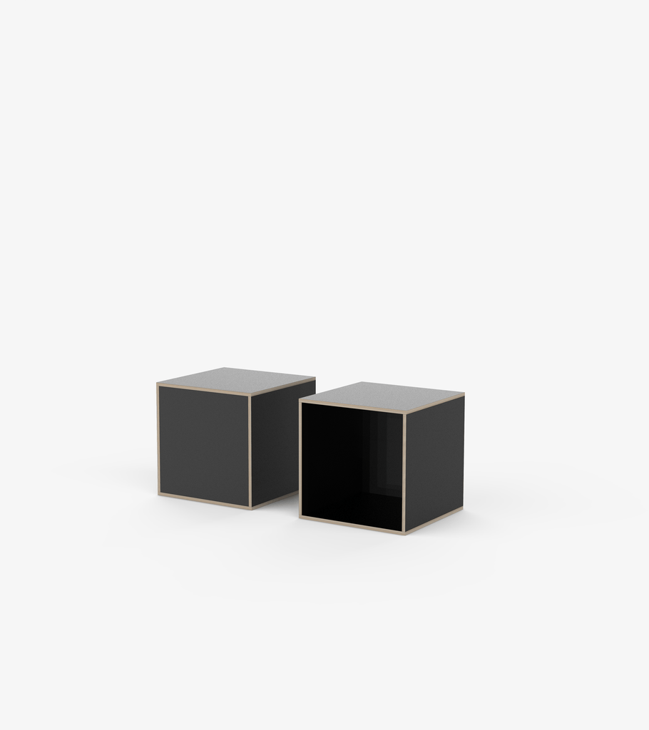 Plinths - Black laminate by FoundPop