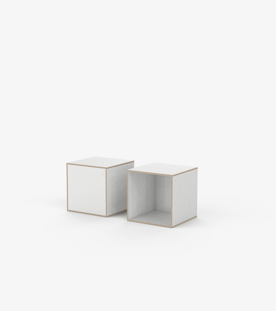 Plinths - White laminate by FoundPop