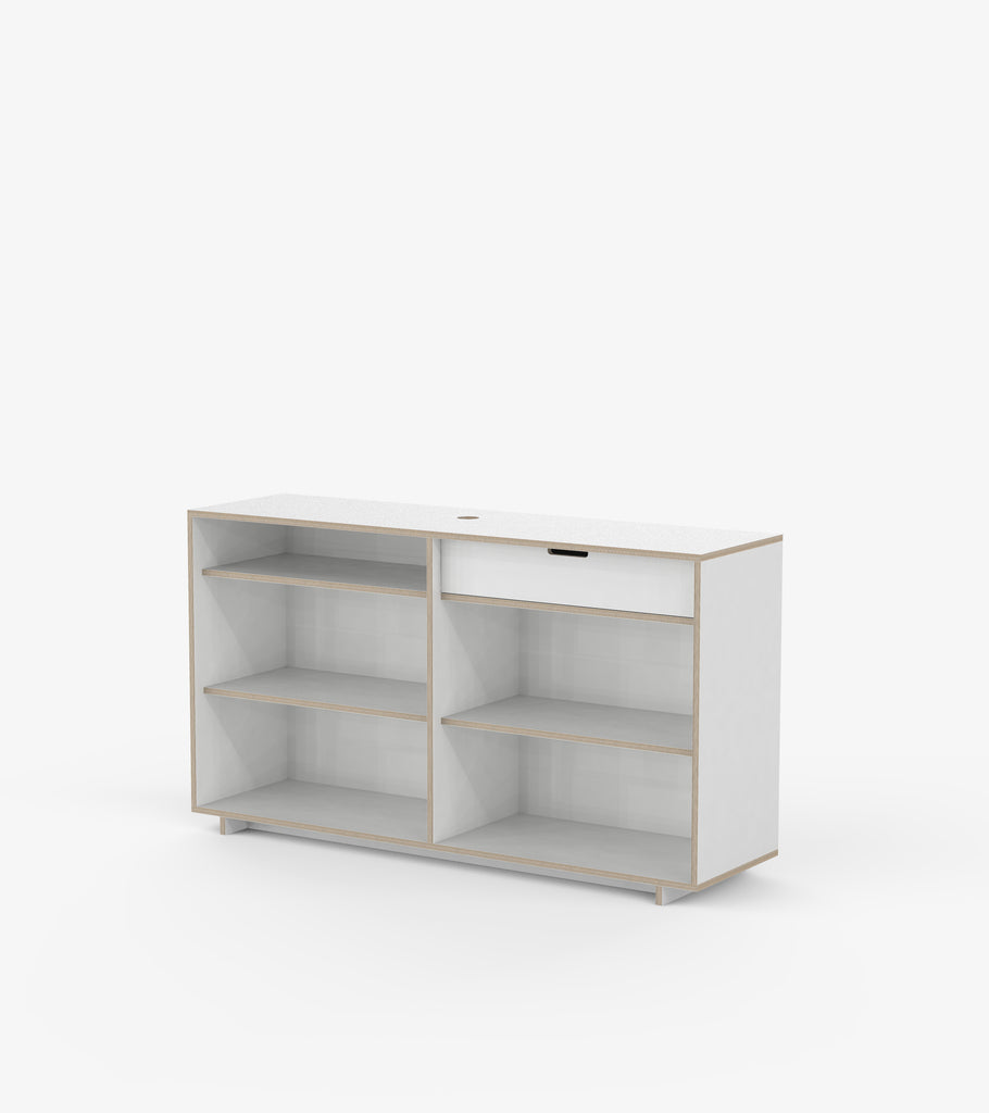 Cash Desk - White by FoundPop