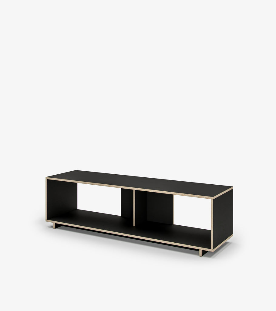Shelving Unit with Storage - Black by FoundPop