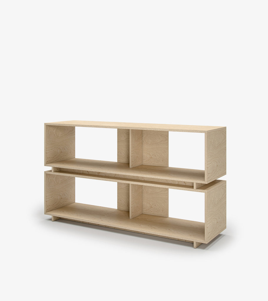 Shelving Unit with Storage - Birch Veneer by FoundPop