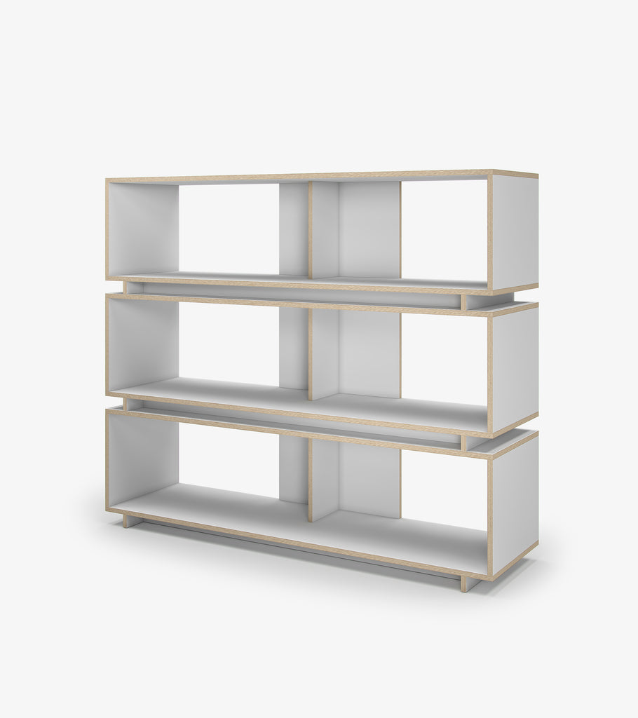 Shelving Unit with Storage - White by FoundPop