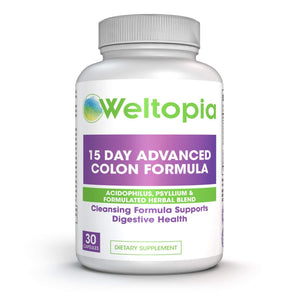 15 Day Advance Colon Cleanse Formula with Probiotic - Weltopia - Premium Vitamins and Supplements