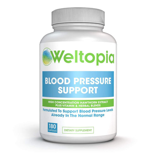Advanced Blood Pressure Support - 180 Caps - Weltopia - Premium Vitamins and Supplements