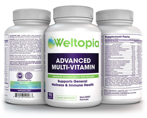 Adult Whole Food Multivitamin - with Enhanced Bioavailability - Weltopia - Premium Vitamins and Supplements