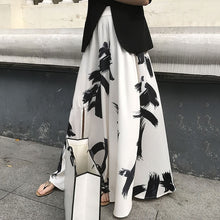 Abstract Print Maxi Skirt - Wide Size Range-The fashionabler