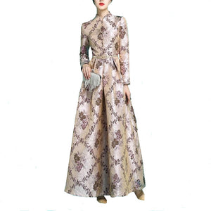 Brocade Evening Gown-The fashionabler