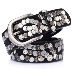 Genuine Leather Studded Belt-The fashionabler