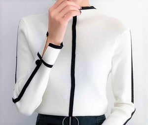 Two-Tone Sweater-The fashionabler