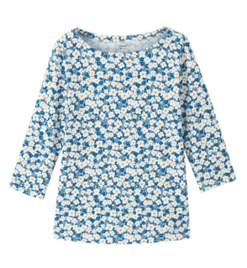 Daisy Print T-shirt-The fashionabler