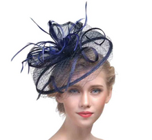 Veiled Fascinator Hat-The fashionabler