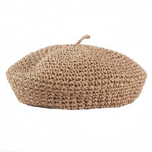 Handmade Straw Beret-The fashionabler