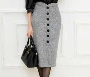 High Waisted Pencil Skirt-The fashionabler