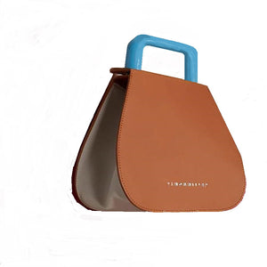 Color Block Mini Handbag-The fashionabler
