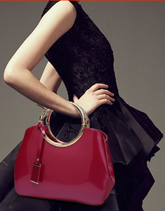 Patent Leather Handbag-The fashionabler