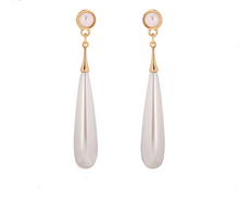 Clip-on Pearl WaterdropEarrings-The fashionabler