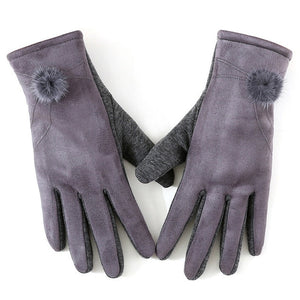 Gloves with Fur Trim-The fashionabler