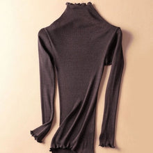 Fine Knit Silk Blend Ribbed Turtleneck-The fashionabler