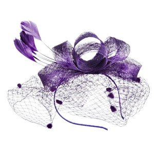 Fascinator with Voilette-The fashionabler