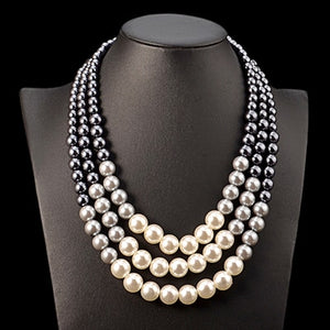 Multi-layer Pearl Necklace-The fashionabler
