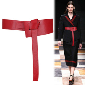 Knotted Leather Belt-The fashionabler
