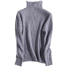 Cable Knit Mock Turtleneck Sweater-The fashionabler