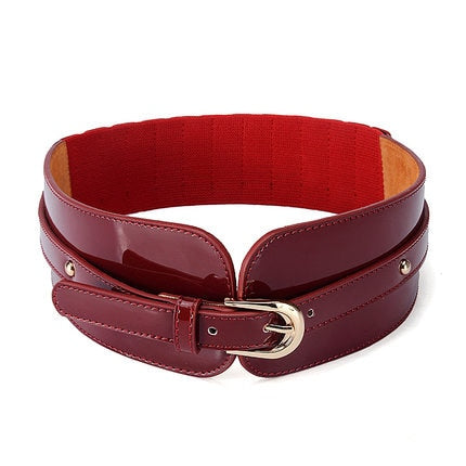 Wide Patent Leather Belt-The fashionabler