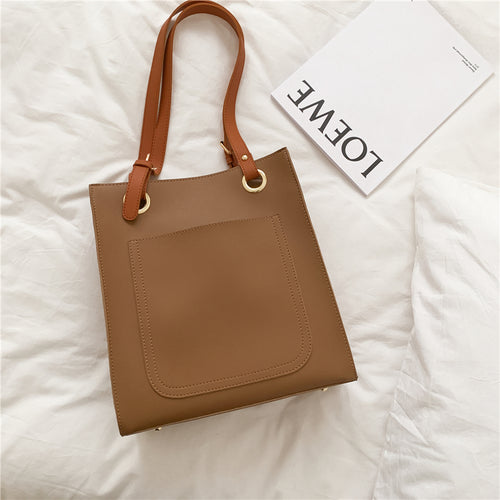 Leather Tote Bag-The fashionabler
