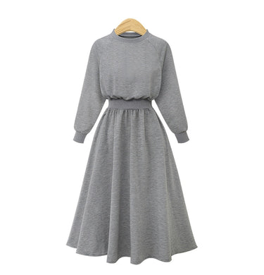 Sweatshirt Dress - Plus Size Range-The fashionabler