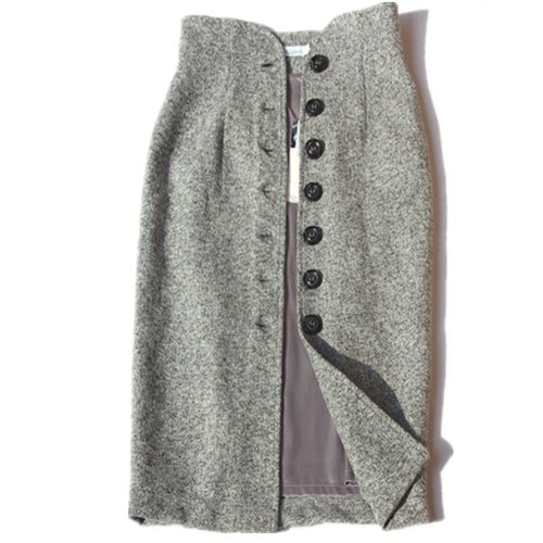 Tweed Pencil Skirt-The fashionabler