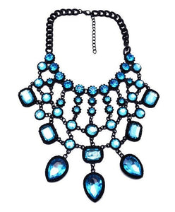 Crystal Bib Necklace-The fashionabler