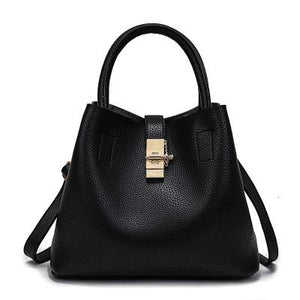 Leather Shoulder Tote-The fashionabler