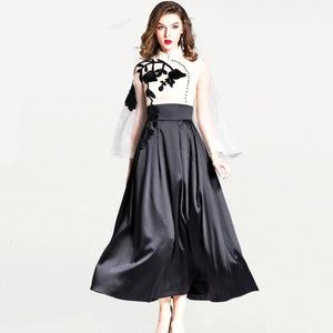 Organza & Satin Evening Dress-The fashionabler