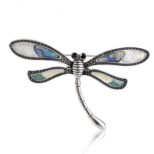 Silver Dragonfly Brooch-The fashionabler