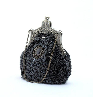 Beaded Vintage Evening Bag-The fashionabler