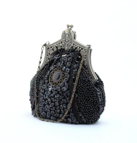 Retro Beaded Evening Bag-The fashionabler