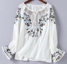 Embroidered Boho Blouse-The fashionabler