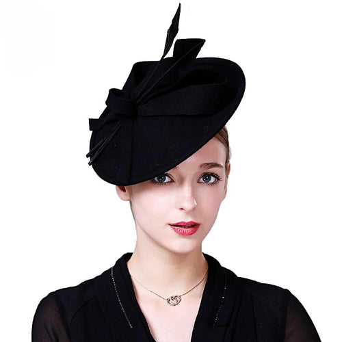 Felt Fascinator Hat-The fashionabler