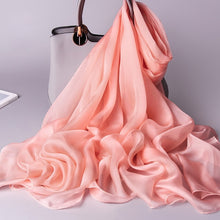 Natural Silk Chiffon Shawl-The fashionabler